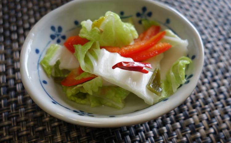 【白菜の即席漬け】すぐに作れる白菜漬け物