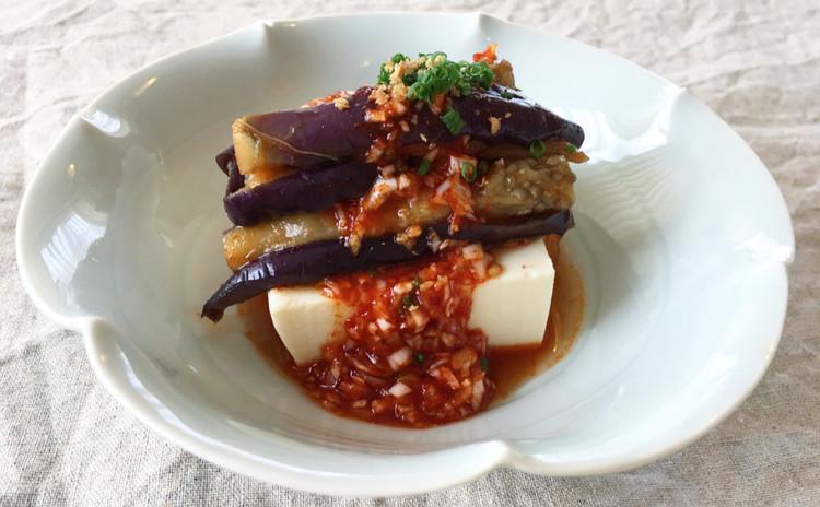 茄子と豆腐の冷菜