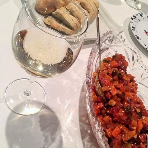 夏野菜のラタトゥイユと自家製パン