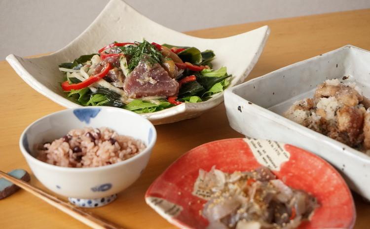 <リバイバルレッスン>鰹の和風サラダ味噌風味仕立て&京都のプチおばんざい