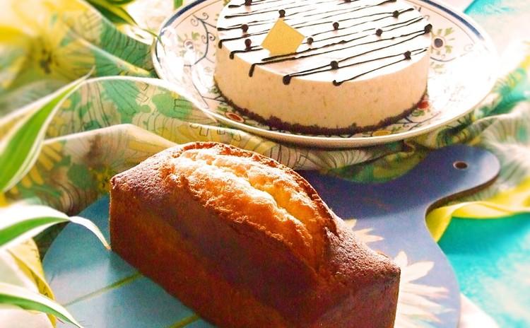 プレゼントに最適☆超しっとり!オレンジパウンドケーキ&チョコバナナのケーキ🍌