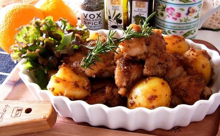チキンとポテトのハニーマスタードソース