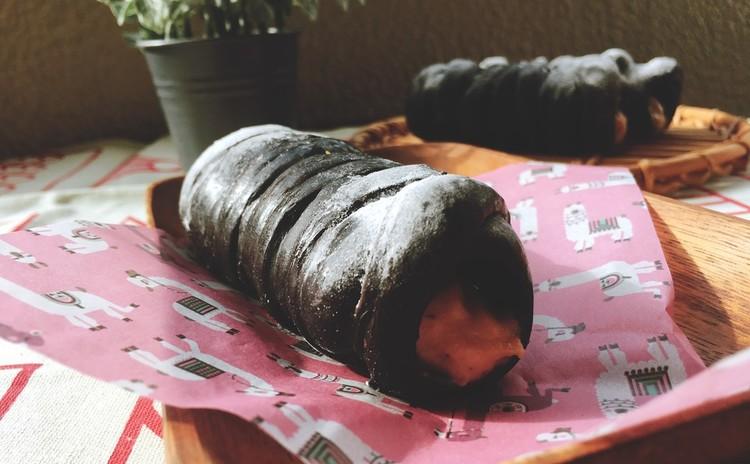 【仙台開催】ブラックココアのマロンコロネ&葡萄と生ハムのサラダ
