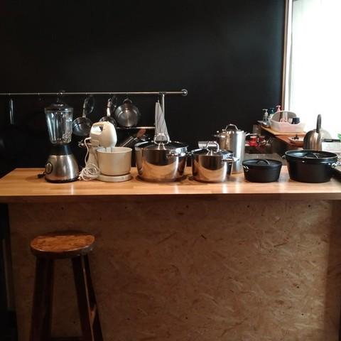 調理器具、カトラリー充実