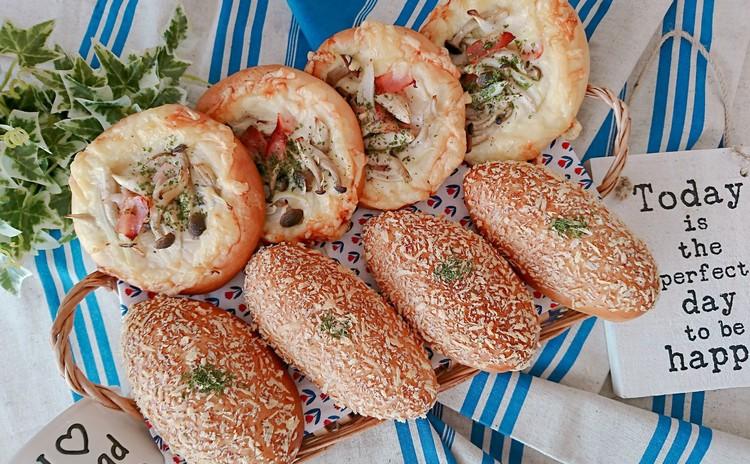 ひとつの生地から作るシチューパン&焼きカレーパン