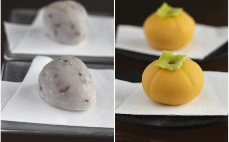 10月/秋の和菓子♬「いのこ餅」と「富有柿」