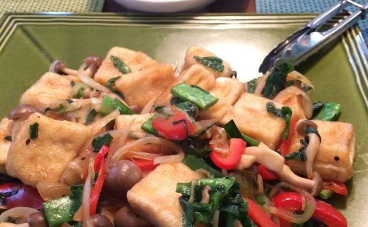 高野豆腐と野菜の炒め物