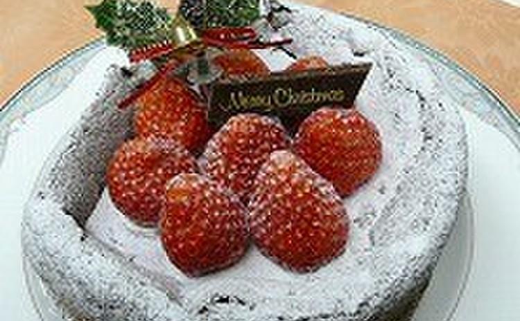 チョコレートを使ってクリスマスケーキを作りましょう!!