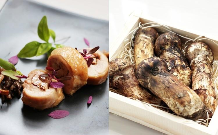 鶏松~松茸の国産鶏の包み焼き