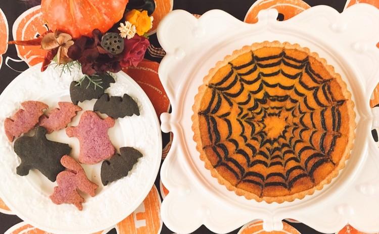 ハロウィンにカボチャチーズタルト   &    ポリ袋でできる!型抜きクッキー