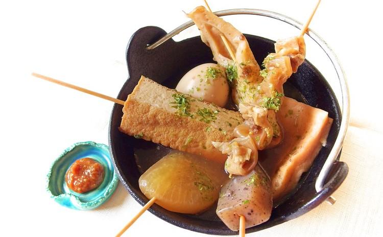 【おでん横丁へようこそ!】静岡おでんと鮮魚ユッケ他、チャーシュー葱まみれ、梅水晶、やみつきキャベツで家飲み会♪