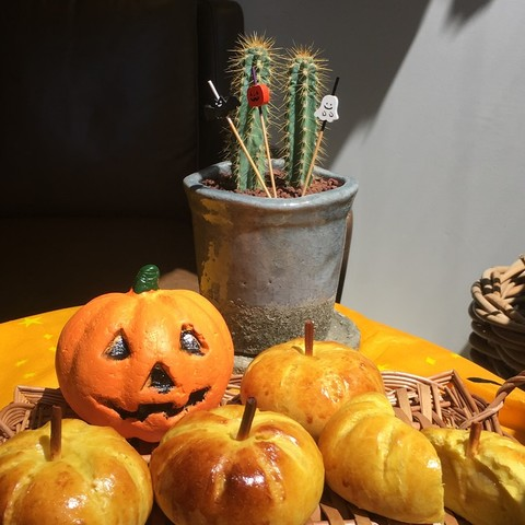 ハロウィンかぼちゃあんぱん