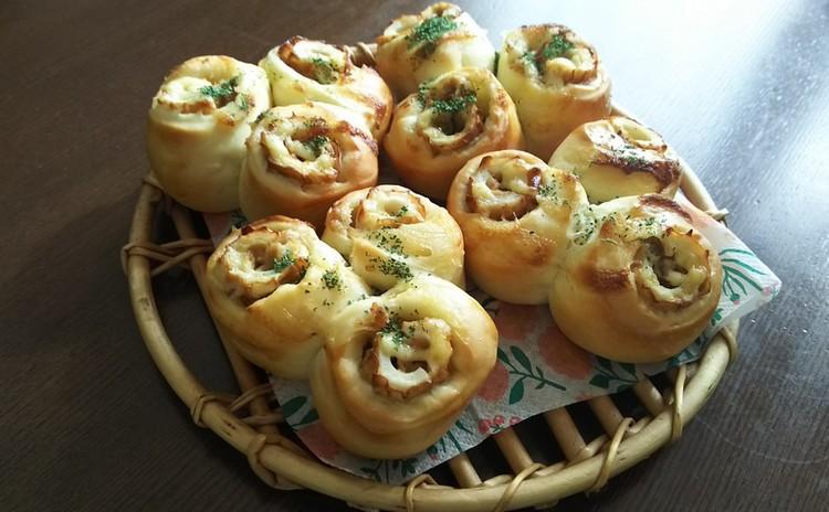 ランチ付き☆白神こだま酵母で作る「ちくわパン&ハムマヨ」