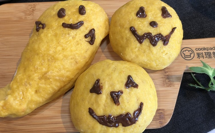 ハロウィンの季節、豆乳パンプキンパンとブルーベリーパン、タマゴの簡単グラタンでパーティーしましょ!