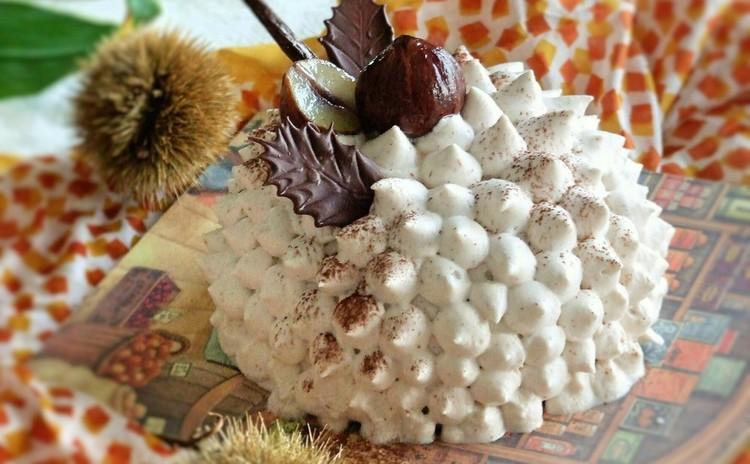 栗とチョコレートのドーム型巨大モンブラン!作るのが楽しいケーキです♪