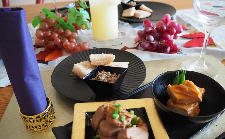 【料理教室・実習あり】ボジョレーワインに合うおつまみ♪サバ缶でリエットと厚揚げの味噌煮&鰹の赤ワイン煮