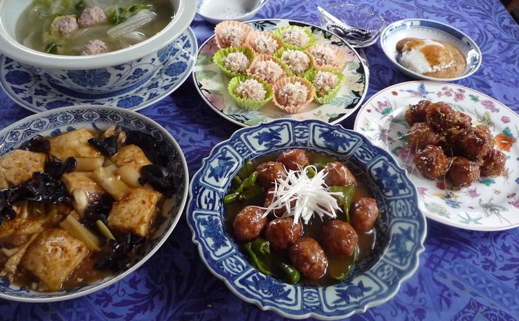 肉団子の種で作る料理と甘味