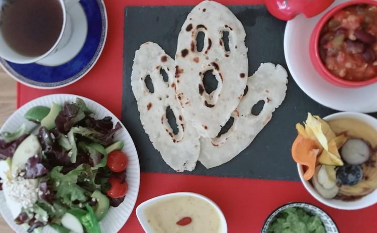 Halloweenプリン&ポタージュ&動物性食品不使用チリコンカン&米粉ナンのレッスン