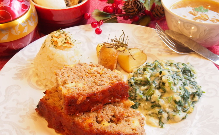 アメリカンクリスマス☆オーブンで簡単豪華メニュー☆ミートローフなど