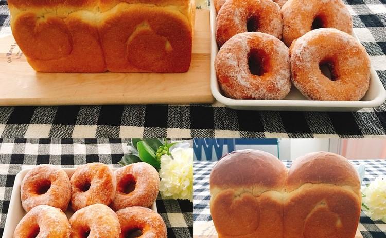 湯種食パン(白神こだま酵母)と ヨーグルト酵母・ドーナツ