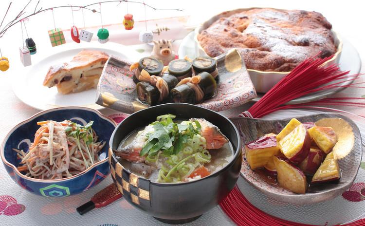 秋の食材をたっぷり楽しみながら、おせちの準備も万端に。寒い季節に体を温める料理献立!