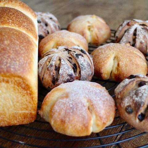 レーズン酵母で3種のパン