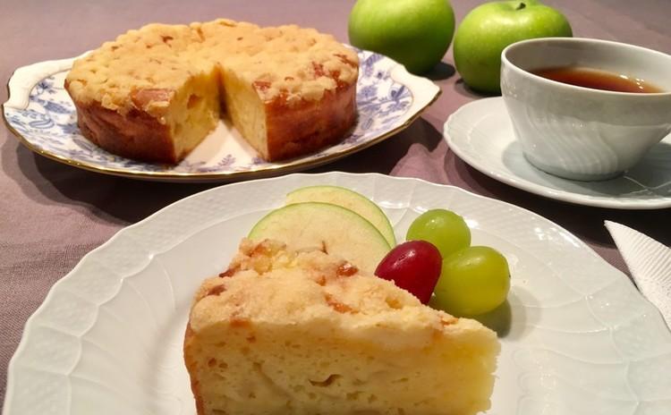 ブラムリーアップルのクランブルケーキ直径18cm