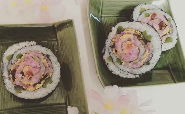 バラの巻き寿司