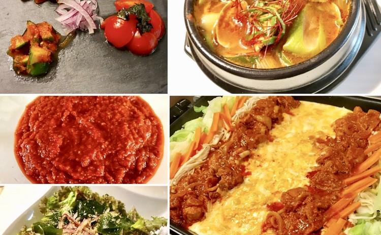 韓国料理で新陳代謝UP!チーズダッカルビ&スンドゥブチゲ&チョレギサラダ&ヤンニョムアラカルト+自家製ヤンニョムお持ち帰り♪