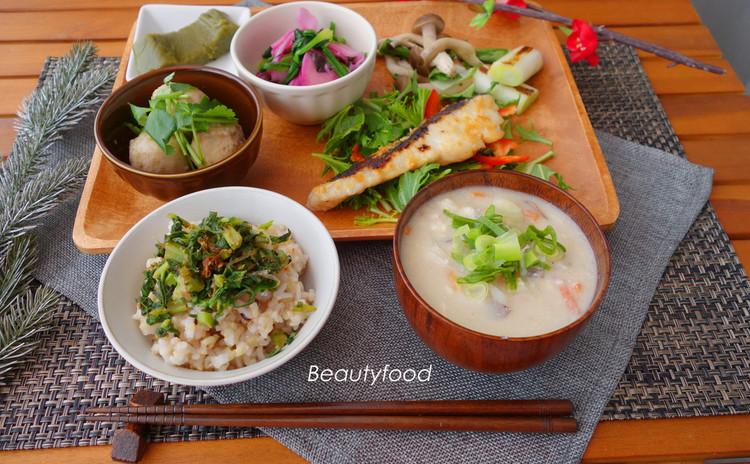 ビューティーフードクッキング~冬の旬食材で食養生の一汁三菜~