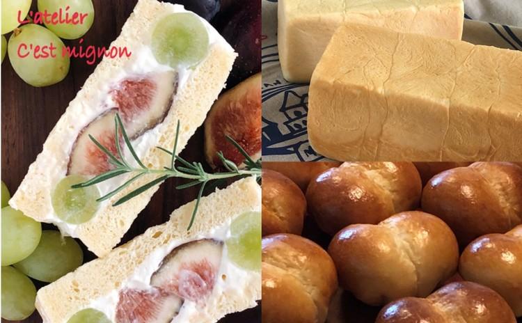 中種法で生地作り!生クリームたっぷりふっわふわ生食パンでフルーツサンド♪&練乳入りのミルキーべべ