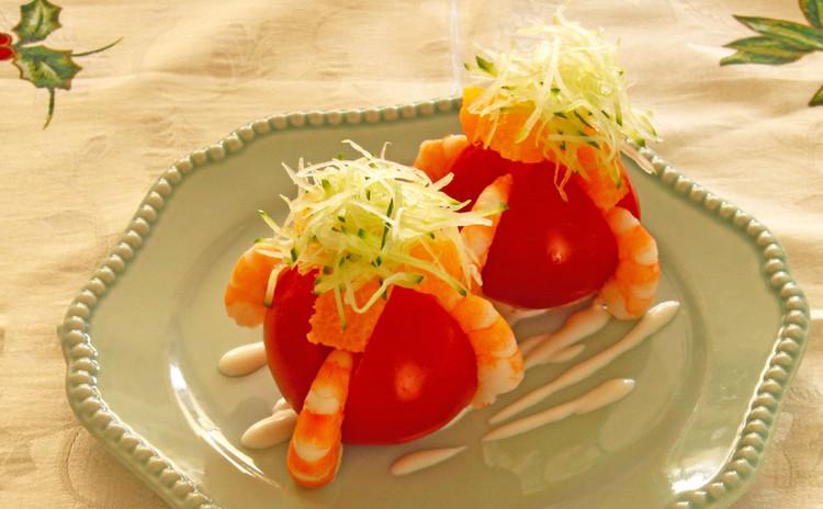 海老とフルーツトマトのサラダ