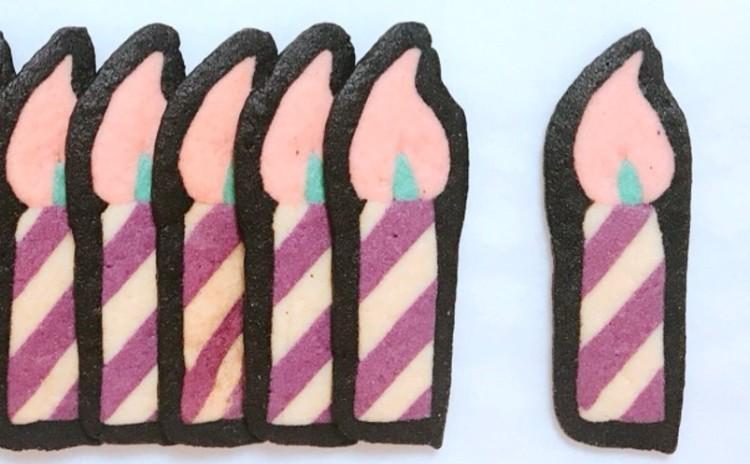 「キャンドルとキノコのアイスボックスクッキー」
