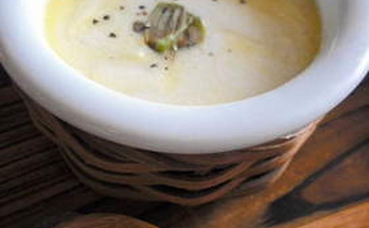 白ねぎと豚肉のシチュー風スープ