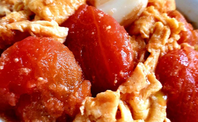 【砂糖不使用ヘルシー中華】シンプル青椒肉絲、トマトと卵の炒め物