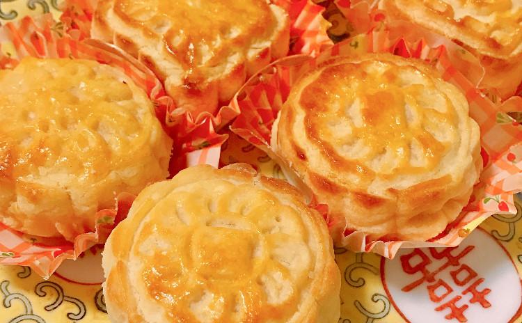 叉焼のレシピつき★奶黃月餅、酥皮焗叉燒包を作ります🎶