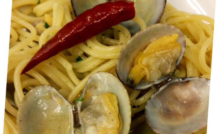 【X'masメニューにも!】トリッパと白いんげん豆のトスカーナ風トマト煮込み、ボンゴレビアンコ、絶品ゴマアンチョビドレッシングのサラダ