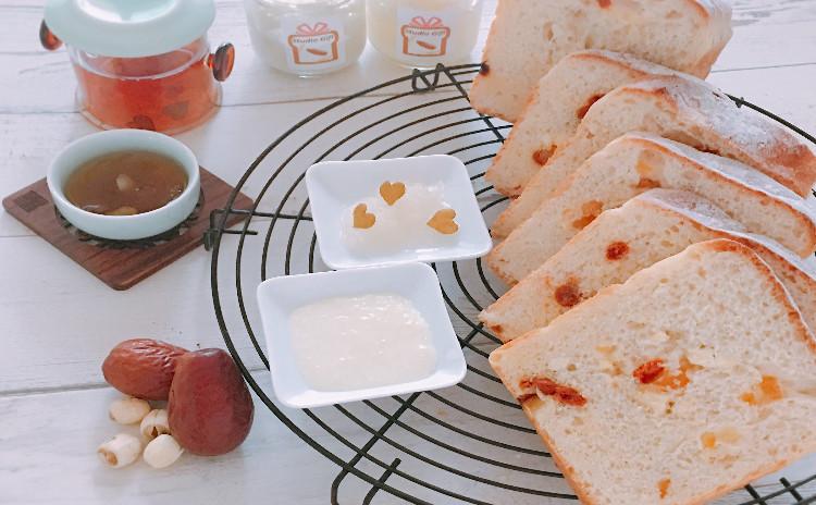 秋の薬膳パン 「蓮の実食パン。杏仁クリーム&梨と白キクラゲのコンフィチュール」〜薬膳座学付き〜