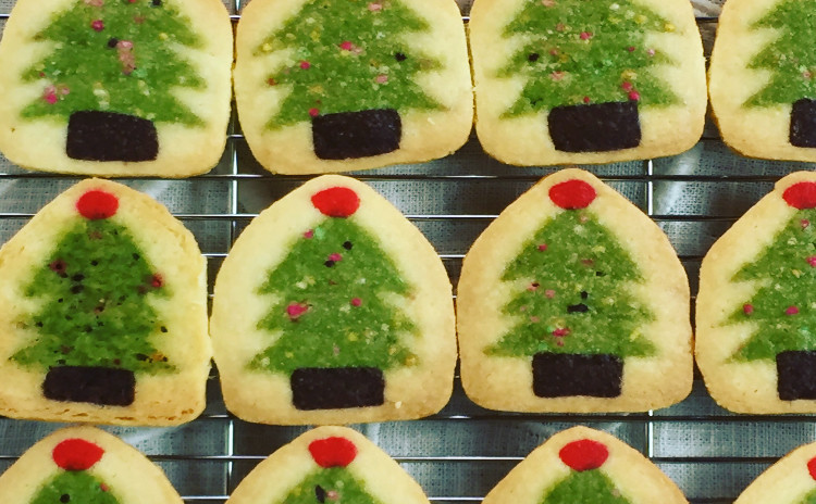 おうちで焼けるクッキー生地をお持ち帰り☆ プレゼントにぴったり【クリスマスツリーのアイスボックスクッキー】