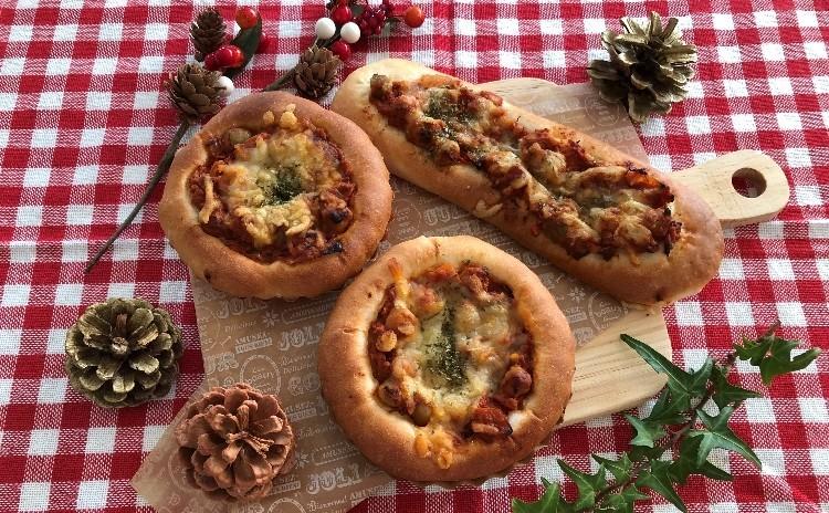 [クリスマス企画]とかち野酵母で作るマジパン入りシュトーレン(ラッピング付き)2個・スパイシータコスミートブレッド他