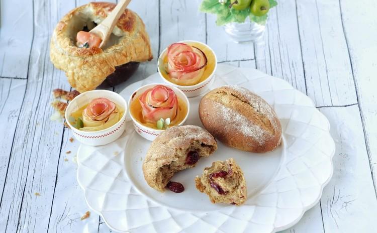 ライ麦とクランベリーのプチパン