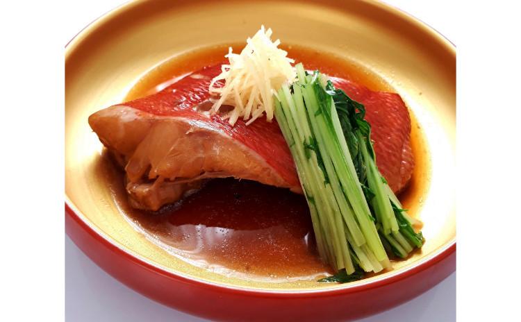 【砂糖不使用おうち和食】金目鯛の煮付け水菜添え(※ハーフサイズ)、しゃきしゃききんぴらごぼう、新米もち米で旬のサツマイモおこわ