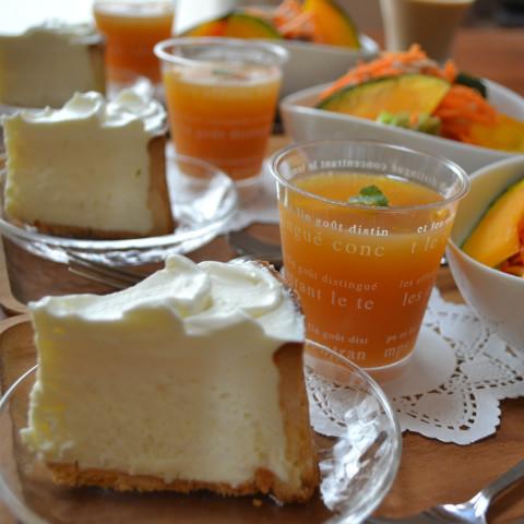 ・カマンベールのレアチーズ・オレンジティーゼリー