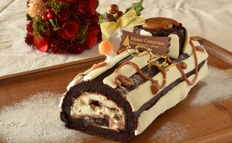 クリスマスケーキ ブッシュドノエル