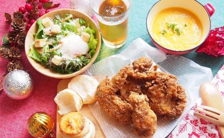 [@クリナップ新宿]Xmasに南部風フライドチキン、バターミルクビスケット、チェリーパイ、キャロットジンジャースープ等