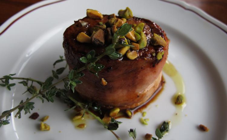 カキのペペロンチーノ、豚ヒレ肉のサルサミエレ、クレマカタラーナ