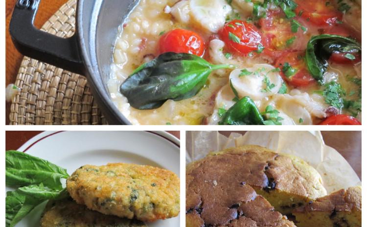 イタリア風タコ飯、鶏肉とほうれん草のスピナッチーネ、オレンジ丸ごとケーキのパンダランチョ