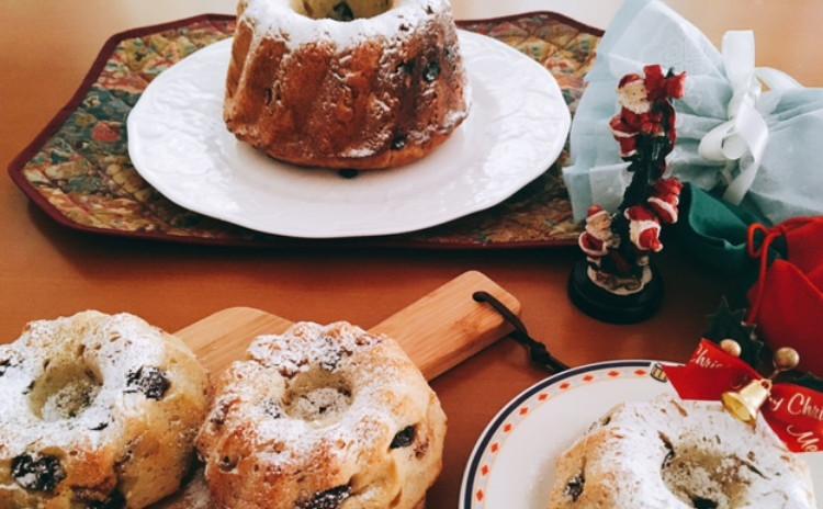 とっても簡単混ぜるだけ! ホシノ丹沢酵母で作るクリスマスの定番クグロフ 可愛いクグロフ(10㎝)2個・クグロフ大(18㎝)1台分(小6個分)生地・クグロフ大1個分酵母持帰り付
