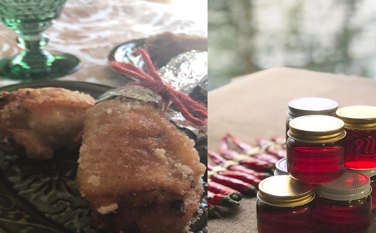 再:中華でおもてなし/福建炒飯・手羽先餃子・辣油・カリフラワーのスープ・安納芋のココナッツミルクプリン