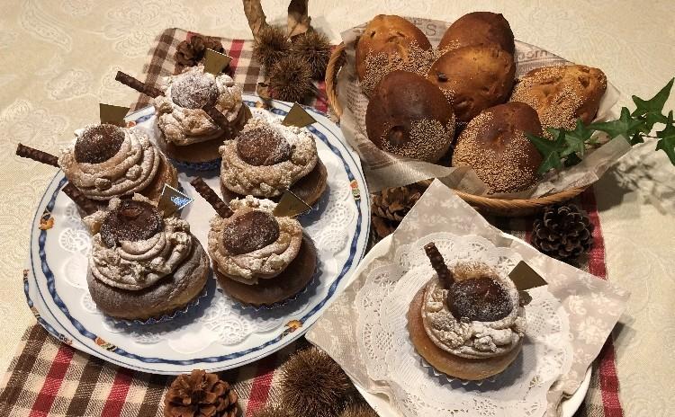 まるでケーキのようなパン「プレミアムモンブラン」&ヘルシーな「マロンブレッド」。